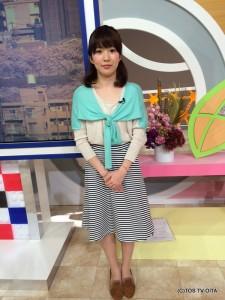 お天気 幸 綾音キャスター 衣装協力:Garden