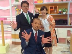 """きょうのゲストは、プロ車いすアスリートの廣道純さん。 """"ハイカロリーな木曜日""""に出演していただくときとはガラッと違うスーツ姿!かっこいいです☆"""
