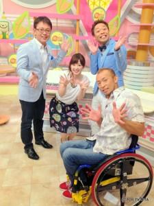 """本番前にパチリ☆ ここに大野タカヨさんがいれば、 """"ハイカロリーな木曜日""""の完成!(笑)"""