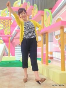 田中愛佳アナウンサー 衣装協力:coote Gready Brilliant(パークプレイス大分 ガーデンウォーク1階)