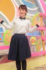 田中愛佳アナウンサー 衣装協力:E'CRU(大分市府内町)