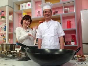 クッキングは初登場のシェフです! 大分市にある中国料理チャイナムーンの阿部秀行さん。 「強面だって言われるんだよね…」とおっしゃっていましたが、優しい笑顔がとっても素敵ですよ♪♪
