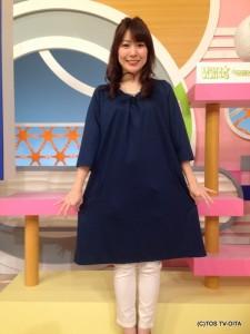 お天気 幸 綾音キャスター 衣装協力:Rccat(ゆめタウン別府2F)