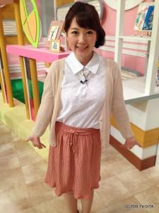 田中愛佳アナウンサー 衣装協力:GRAPEFRUIT MOON(大分フォーラス3階)