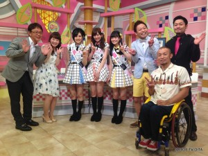 TOS45周年の応援に、HKT48の兒玉 遥さん、坂口 理子さん、本村 碧唯さんがスタジオに来てくれました♪ みなさん120%の笑顔と元気で盛り上げてくれましたよ!