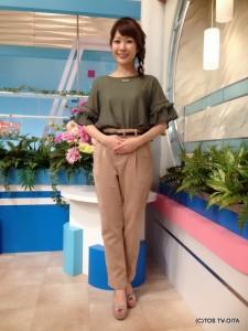 お天気 幸 綾音キャスター 衣装協力:Pate * bloom garden(ゆめタウン別府2F)