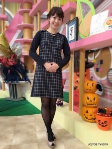 お天気 幸 綾音キャスター 衣装協力:Honeys(大分フォーラス3階)