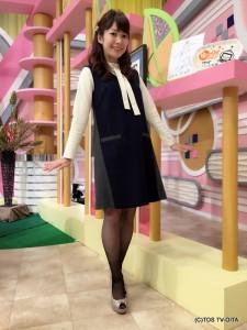 お天気 幸 綾音キャスター 衣装協力:coote Gready Brilliant(パークプレイス大分 ガーデンウォーク1階)