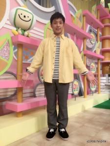 藤村晃輝アナウンサー 衣装協力:GRAPEFRUIT MOON(大分フォーラス3階)
