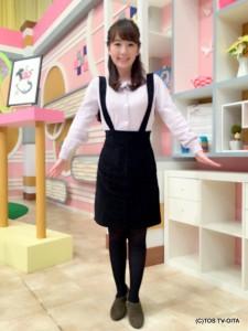 田中愛佳アナウンサー 衣装協力:titty&co.(大分フォーラス2階)