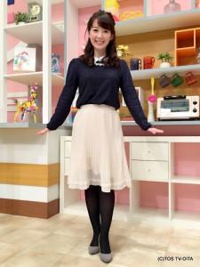 田中愛佳アナウンサー 衣装協力:Honeys(大分フォーラス3階)