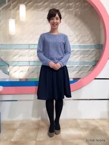 井下育恵キャスター 衣装協力:Honeys(大分フォーラス3階)