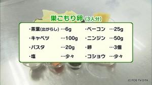 0014_・茶葉(出がらし)_…6g_・ベーコン_…25g_・キ