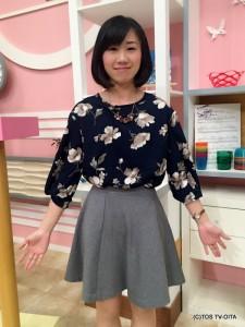 気象予報士 大波多 美奈キャスター 衣装協力:GRAPEFRUIT MOON(大分フォーラス3階)