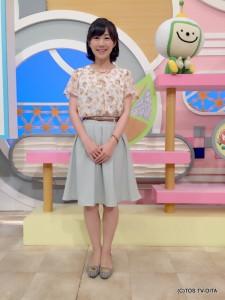 気象予報士 大波多 美奈キャスター 衣装協力:Honeys(大分フォーラス3階)