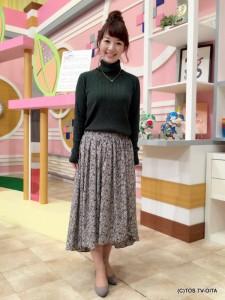 田中愛佳アナウンサー 衣装協力:Pate * bloom garden(ゆめタウン別府2F) 【コーディネートのポイント☆】 きょうの衣装は、タートルネックのニットに、アシンメトリーのスカートです。 ぴたっと肌に沿うタートルネックで秋を先取りしながら、ふわっとしたスカートをはくことで、軽やかな印象に仕上げました!