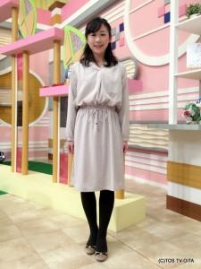気象予報士 大波多美奈キャスター 衣装協力:Honeys(大分フォーラス3階)